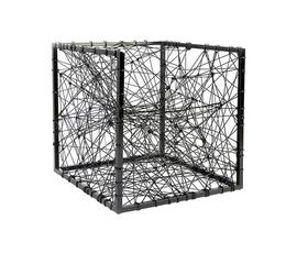 美国 Phillips Collection  Entropy系列黑色 铝 线条编织 3D坐凳