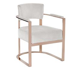 美国 Sunpan  Madeline系列米白 金色不锈钢 现代风 扶手椅