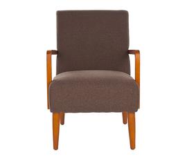 美国 Safavieh  Wiley系列棕色 桦木 简约 扶手椅