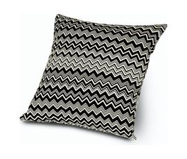 意大利 Missoni Home  Tobago系列黑白色纯棉锯齿条纹图案抱枕