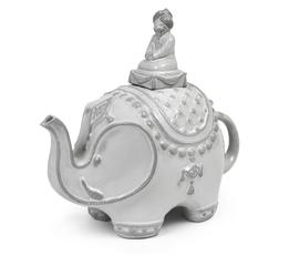 美国 Jonathan Adler  Utopia系列白色炻瓷大吉岭大象茶壶