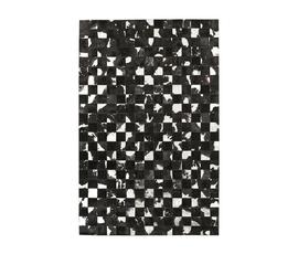 美国 Surya  Trail系列黑白皮革马赛克拼接大号地毯