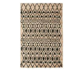 美国 Safavieh  Tangier系列亚麻色天然麻&羊毛摩尔图案大号地毯