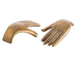 美国 Arteriors  Garnet系列金色铝制手形多功能雕塑