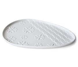 美国 Jonathan Adler  Charade系列白色陶瓷卫浴托盘