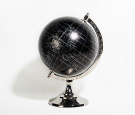 美国 Torre&Tagus  黑色黄铜镀镍地球仪