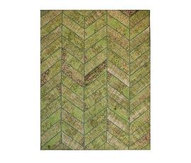 美国 Four Hands  Herringbobe系列黄绿色羊毛拼缝地毯