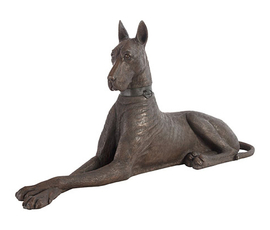 美国 Phillips Collection  黑色树脂丹麦犬动物艺术摆件