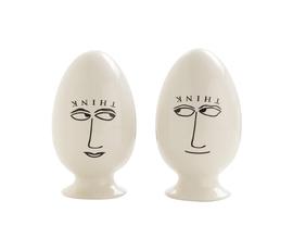 美国 Arteriors  Ingelbert系列乳白色陶瓷蛋形对装摆件