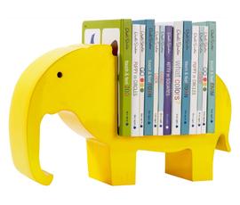 美国 Dwell Studio   柠檬黄木质大象儿童书架