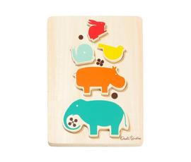 美国 Dwell Studio   原色木质动物儿童拼图