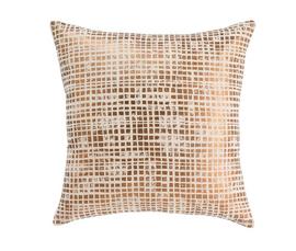 美国 Dwell Studio   金色亚麻仿金属现代装饰枕抱枕