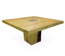 美国 Four Hands  自然色原木做旧方形餐桌