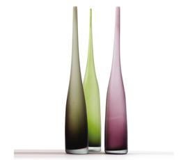 美国 Tozai  绿 灰 紫玻璃蜂鸟花瓶三件套(细款)