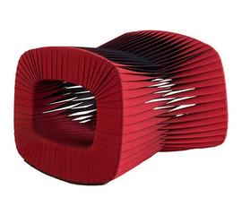 美国 Phillips Collection  红色棉质安全带 饥饿游戏同款脚凳