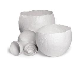 美国 Roost  白色纸大号蛋形纸碗五件套