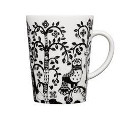 芬兰 Iittala  Taika魔幻森林系列黑白陶瓷猫头鹰马克杯