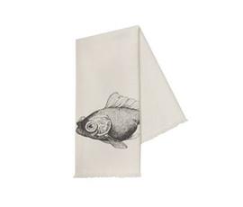 美国 Thomas Paul  黑色纯棉海鱼图案毛巾