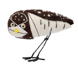 美国 Gold Leaf  Felt Bird系列棕色毛毡手工编织 美洲穴鸮小鸟摆件