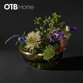 TOTA combined vase & bowl  Black/Gold
