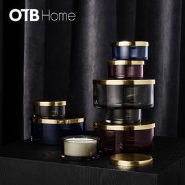 TOTA cylinder jar w. lid  Black     Small