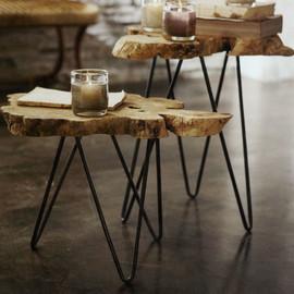 美国 Roost  自然色皂荚木装饰桌