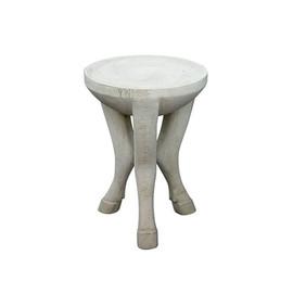 美国 Oly Studio  白色树脂仿生边桌