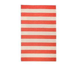 美国 Surya  前沿系列红色100%羊毛条纹地毯