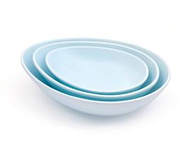 英国 Bliss Home  Nigella Lawson系列天蓝色炻瓷沙拉碗三件套