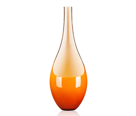 意大利 Salviati  琥珀色穆拉诺玻璃勺形花瓶(高款)