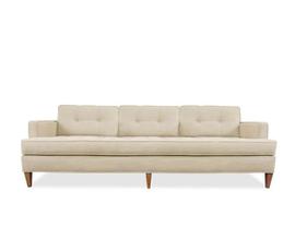 美国 Jonathan Adler  Arden系列米白亚麻实木沙发
