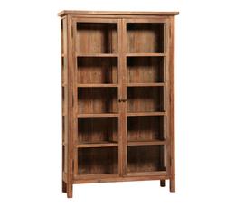 美国 Dovetail  Anna系列原色实木做旧玻璃柜