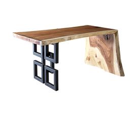 美国 Phillips Collection  Austin系列棕色环保木原生 前卫书桌