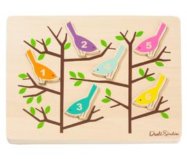 美国 Dwell Studio   原色木质数字鸟儿童拼图