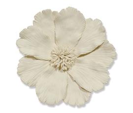 美国 Palecek  象牙白陶瓷花形墙饰