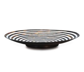 美国 Palecek  黑白贝壳漩涡纹托盘