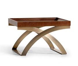 意大利 Opera  Lear系列乌木色橡木古典装饰小号边桌