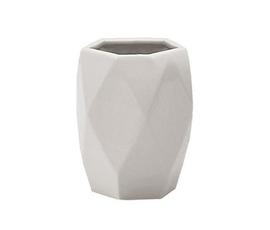 美国 Nameek's  Dalia系列白色陶瓷几何切割牙刷杯