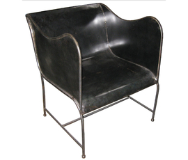 美国 Noir Furniture  gaston系列黑色铝制金属 扶手椅