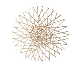 美国 Phillips Collection  Cross Stick Wall Art系列棕色 木质枝条拼接 圆形手工艺术墙饰