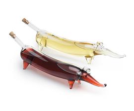美国 Roost  腊肠犬系列透明玻璃调味瓶油醋套装