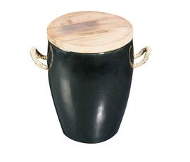 美国 Roost  黑色陶瓷储物圆凳