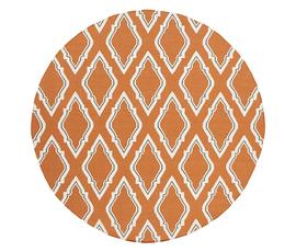 美国 Surya  Fallon系列橙红色羊毛时尚几何纹样圆形大号地毯