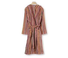 意大利 Missoni Home  Milo系列暖色纯棉格纹图案带帽浴袍