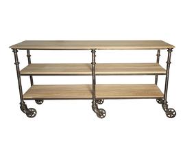 美国 Noir Furniture  原木色榆木工业殖民地风装饰桌(小)