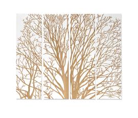 美国 Palecek  白/原色橡木春树图案装饰画(四只装)