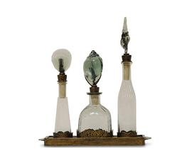 美国 Palecek  绿色玻璃航海风装饰花瓶三件套