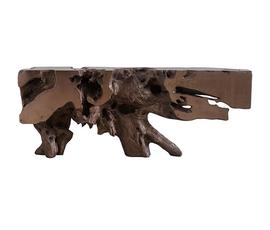 美国 Phillips Collection  金属铜色树脂工艺自由形态装饰桌